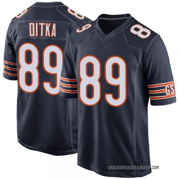 Men's Mike Ditka Chicago Bears Game Navy Team Color Jersey