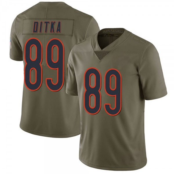 Men's Mike Ditka Chicago Bears Limited Green 2017 Salute to Service Jersey