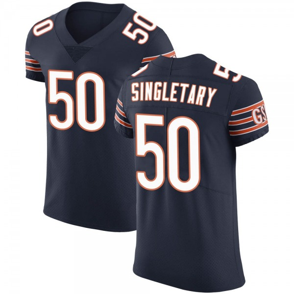 Men's Mike Singletary Chicago Bears Elite Navy Team Color Vapor Untouchable Jersey
