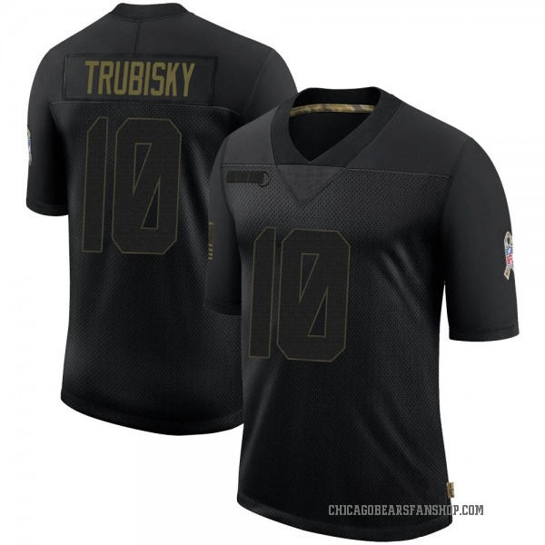 Men's Mitchell Trubisky Chicago Bears Limited Black 2020 Salute To Service Jersey