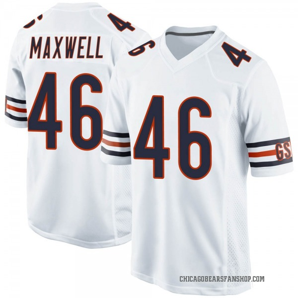 Men's Napoleon Maxwell Chicago Bears Game White Jersey