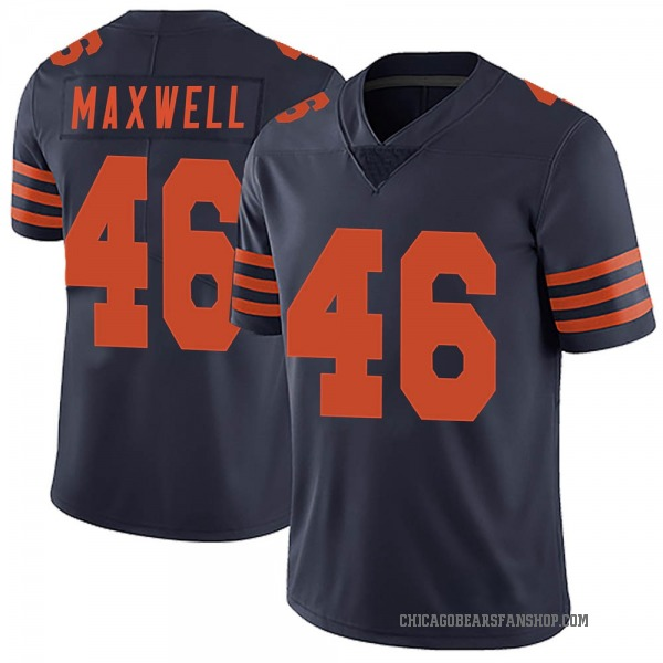 Men's Napoleon Maxwell Chicago Bears Limited Navy Blue Alternate Vapor Untouchable Jersey