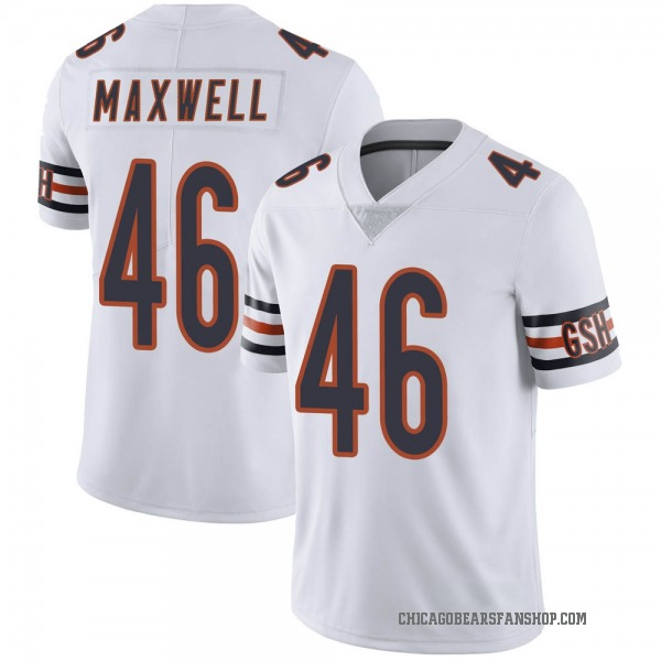 Men's Napoleon Maxwell Chicago Bears Limited White Vapor Untouchable Jersey