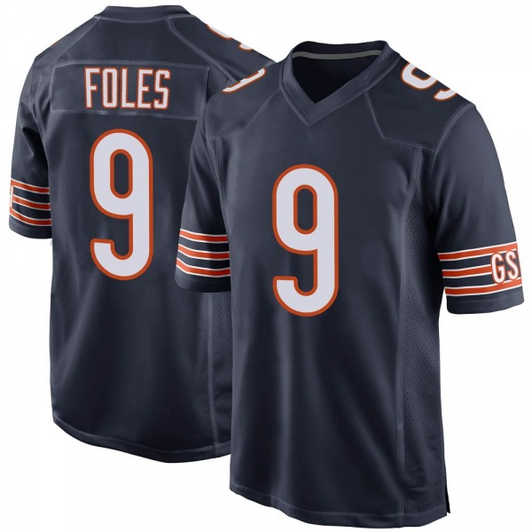 Men's Nick Foles Chicago Bears Game Navy Team Color Jersey
