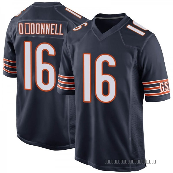 Men's Pat O'Donnell Chicago Bears Game Navy 100th Season Jersey