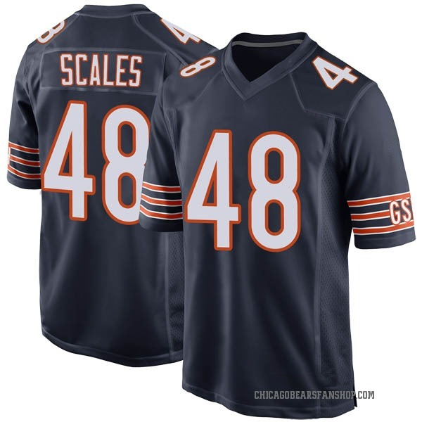 Men's Patrick Scales Chicago Bears Game Navy Team Color Jersey