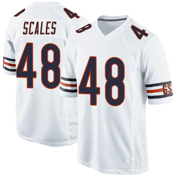 Men's Patrick Scales Chicago Bears Game White Jersey