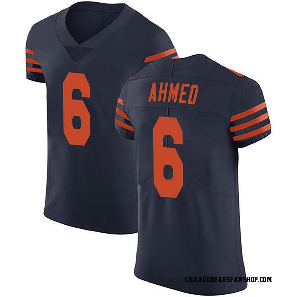 Men's Ramiz Ahmed Chicago Bears Elite Navy Blue Alternate Vapor Untouchable Jersey