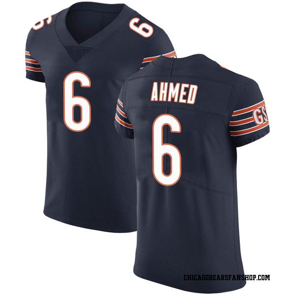 Men's Ramiz Ahmed Chicago Bears Elite Navy Team Color Vapor Untouchable Jersey