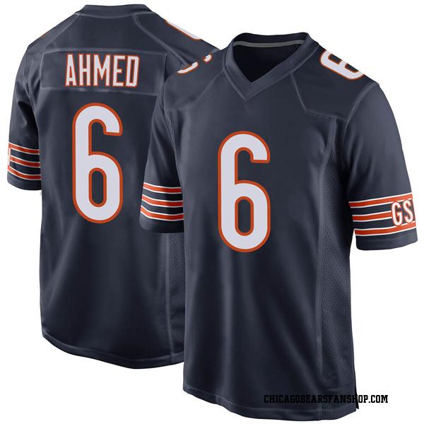 Men's Ramiz Ahmed Chicago Bears Game Navy Team Color Jersey