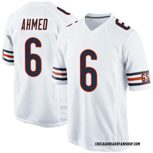 Men's Ramiz Ahmed Chicago Bears Game White Jersey