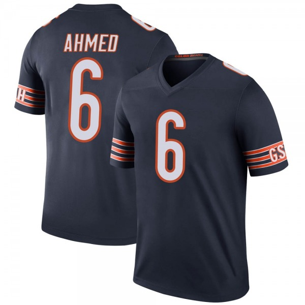 Men's Ramiz Ahmed Chicago Bears Legend Navy Color Rush Jersey