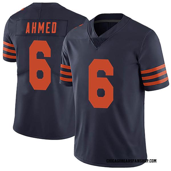 Men's Ramiz Ahmed Chicago Bears Limited Navy Blue Alternate Vapor Untouchable Jersey