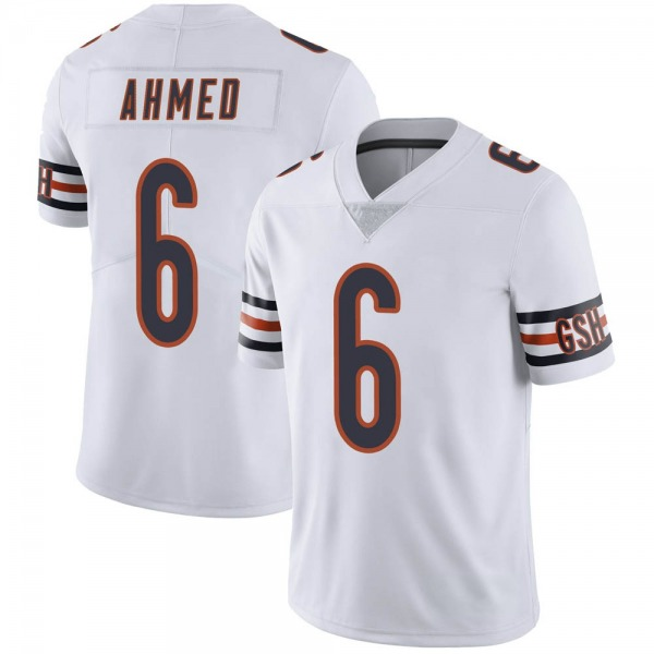Men's Ramiz Ahmed Chicago Bears Limited White Vapor Untouchable Jersey