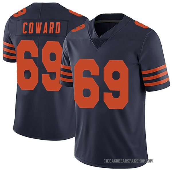 Men's Rashaad Coward Chicago Bears Limited Navy Blue Alternate Vapor Untouchable Jersey