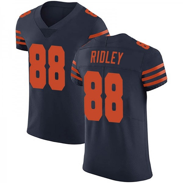 Men's Riley Ridley Chicago Bears Elite Navy Blue Alternate Vapor Untouchable Jersey