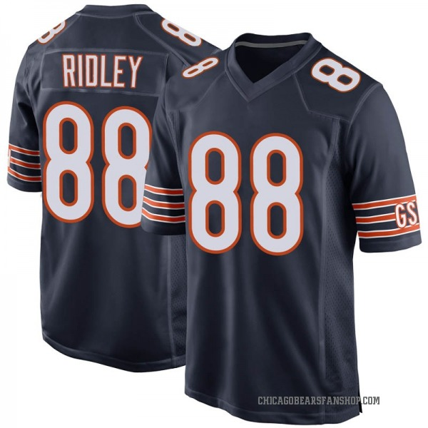 Men's Riley Ridley Chicago Bears Game Navy Team Color Jersey