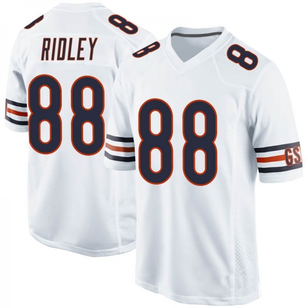 Men's Riley Ridley Chicago Bears Game White Jersey