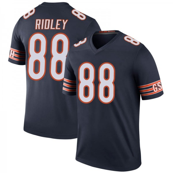 Men's Riley Ridley Chicago Bears Legend Navy Color Rush Jersey