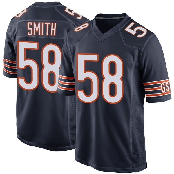 Men's Roquan Smith Chicago Bears Game Navy Team Color Jersey