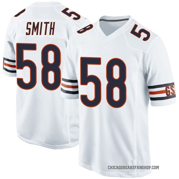Men's Roquan Smith Chicago Bears Game White Jersey