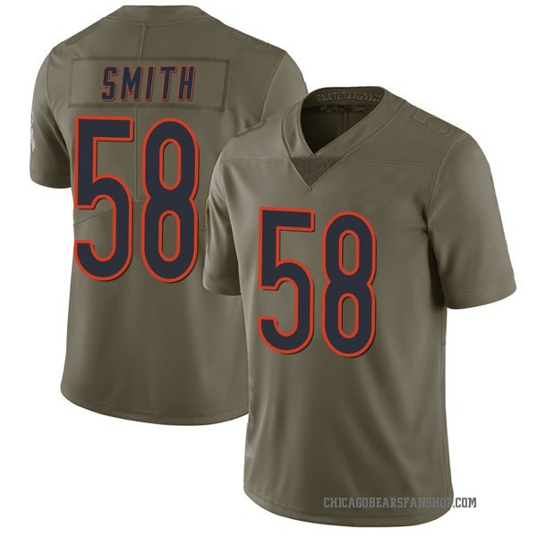 Men's Roquan Smith Chicago Bears Limited Green 2017 Salute to Service Jersey