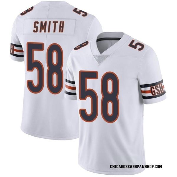 Men's Roquan Smith Chicago Bears Limited White Vapor Untouchable Jersey