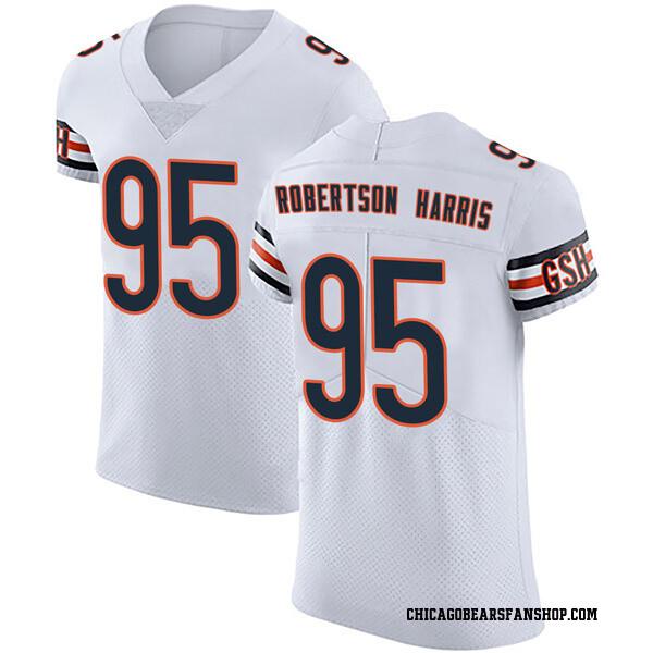 Men's Roy Robertson-Harris Chicago Bears Elite White Vapor Untouchable Jersey
