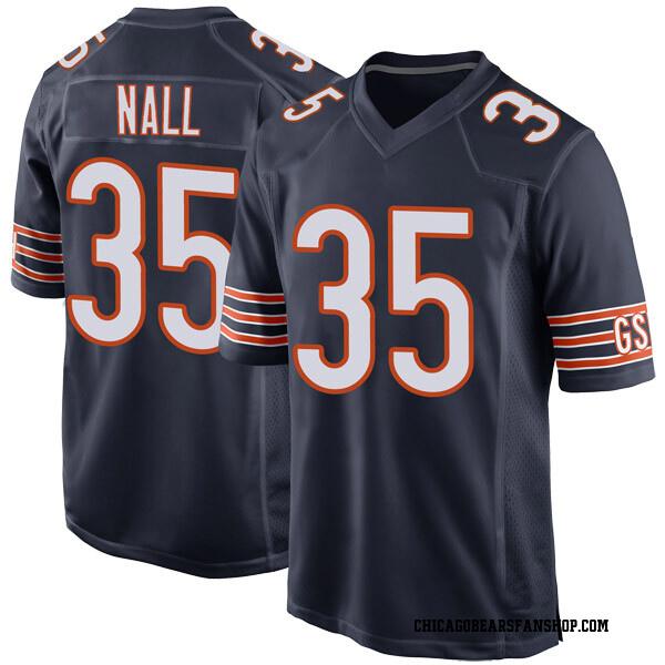 Men's Ryan Nall Chicago Bears Game Navy Team Color Jersey