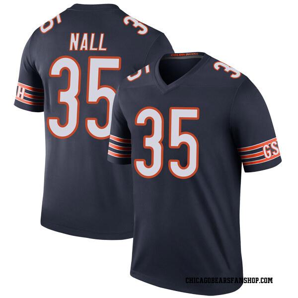 Men's Ryan Nall Chicago Bears Legend Navy Color Rush Jersey