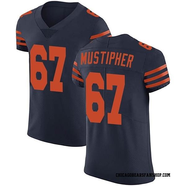 Men's Sam Mustipher Chicago Bears Elite Navy Blue Alternate Vapor Untouchable Jersey