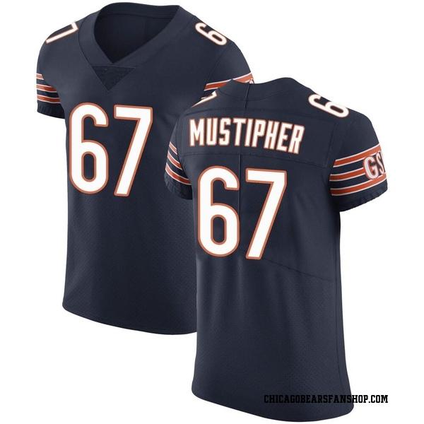 Men's Sam Mustipher Chicago Bears Elite Navy Team Color Vapor Untouchable Jersey