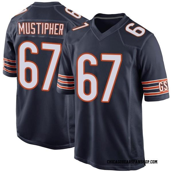 Men's Sam Mustipher Chicago Bears Game Navy Team Color Jersey