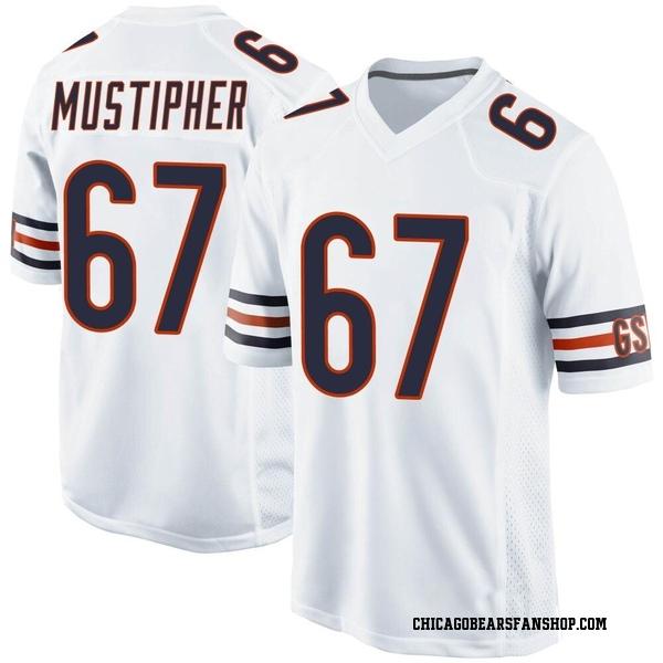 Men's Sam Mustipher Chicago Bears Game White Jersey