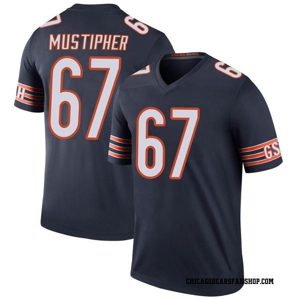 Men's Sam Mustipher Chicago Bears Legend Navy Color Rush Jersey