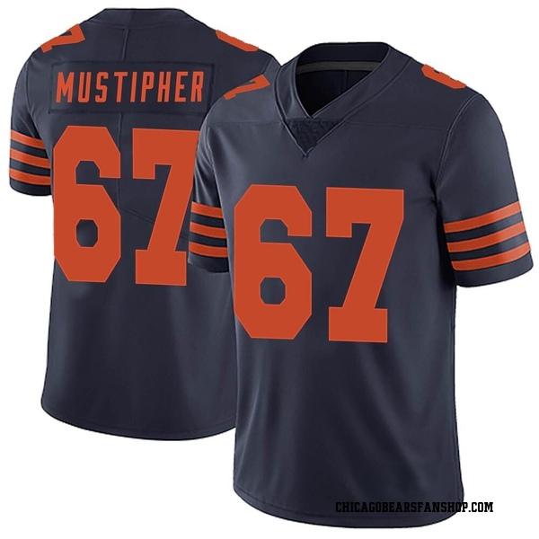Men's Sam Mustipher Chicago Bears Limited Navy Blue Alternate Vapor Untouchable Jersey