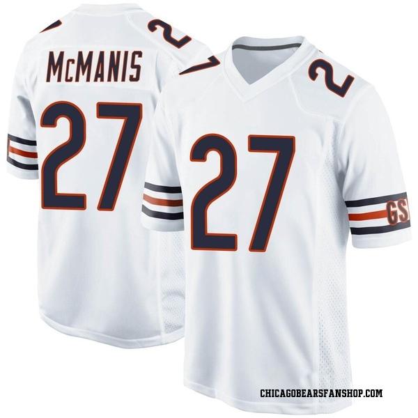 Men's Sherrick McManis Chicago Bears Game White Jersey