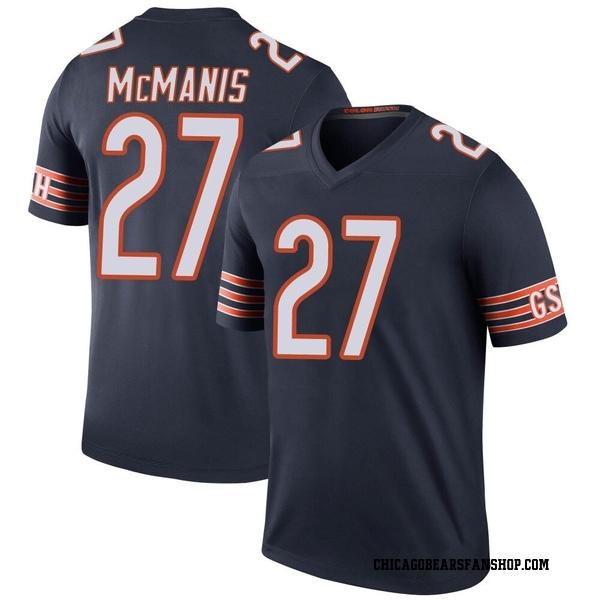 Men's Sherrick McManis Chicago Bears Legend Navy Color Rush Jersey