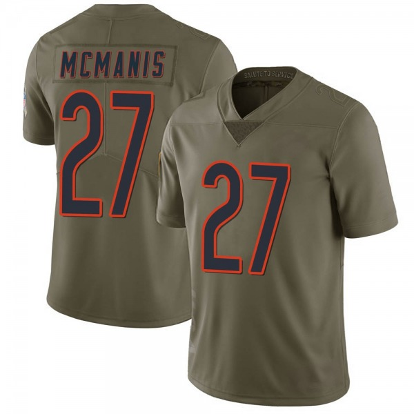 Men's Sherrick McManis Chicago Bears Limited Green 2017 Salute to Service Jersey