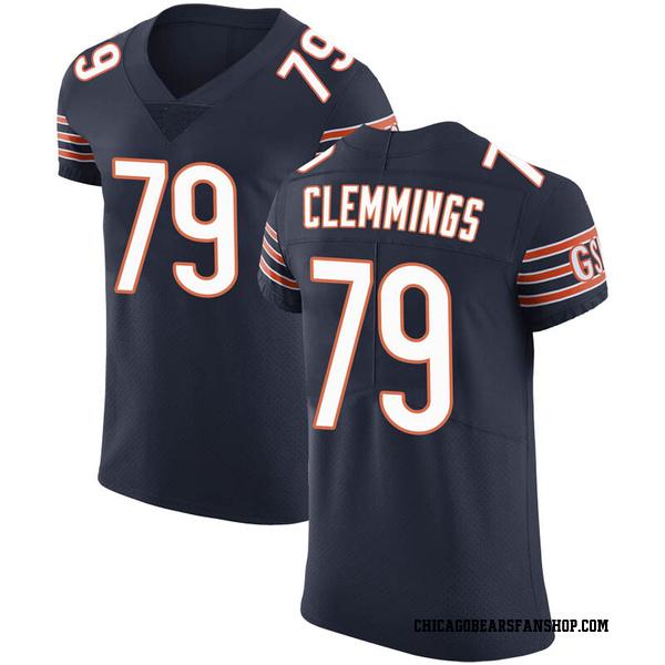 Men's T.J. Clemmings Chicago Bears Elite Navy Team Color Vapor Untouchable Jersey