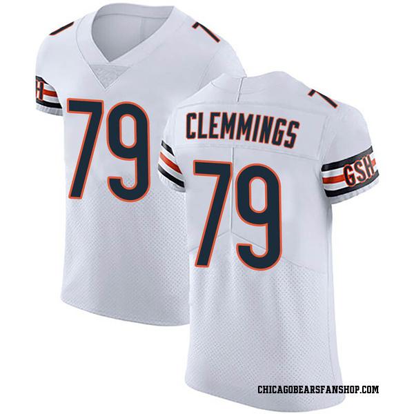 Men's T.J. Clemmings Chicago Bears Elite White Vapor Untouchable Jersey