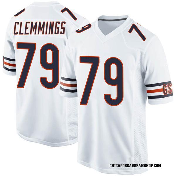 Men's T.J. Clemmings Chicago Bears Game White Jersey