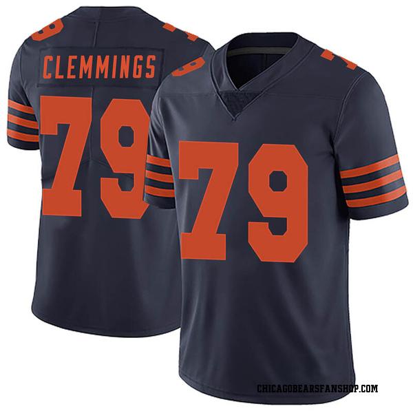 Men's T.J. Clemmings Chicago Bears Limited Navy Blue Alternate Vapor Untouchable Jersey