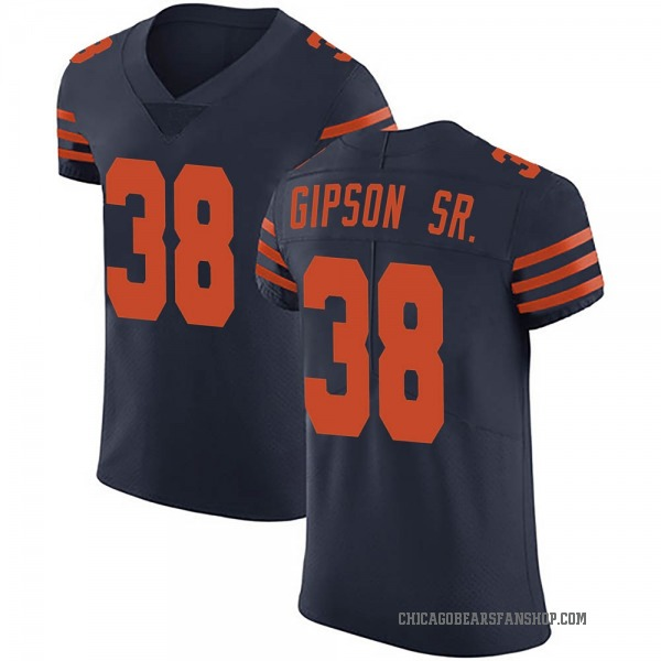 Men's Tashaun Gipson Chicago Bears Elite Navy Blue Alternate Vapor Untouchable Jersey