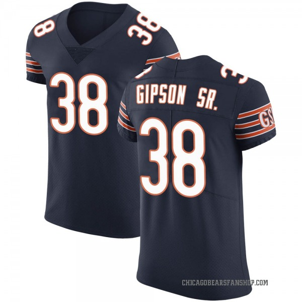 Men's Tashaun Gipson Chicago Bears Elite Navy Team Color Vapor Untouchable Jersey