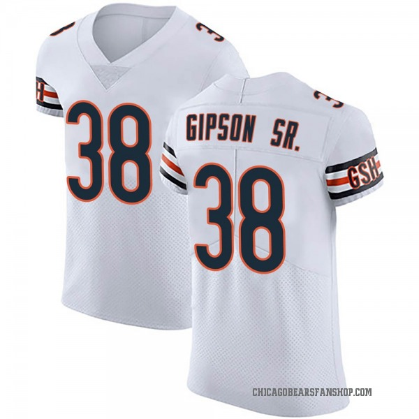 Men's Tashaun Gipson Chicago Bears Elite White Vapor Untouchable Jersey
