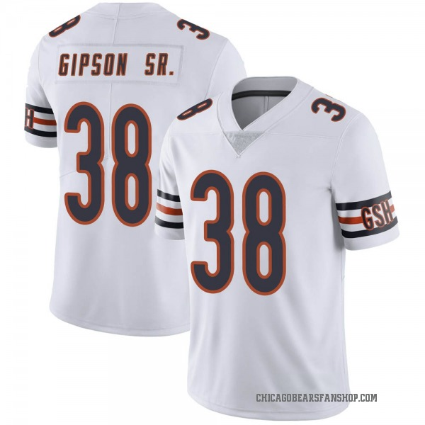 Men's Tashaun Gipson Chicago Bears Limited White Vapor Untouchable Jersey