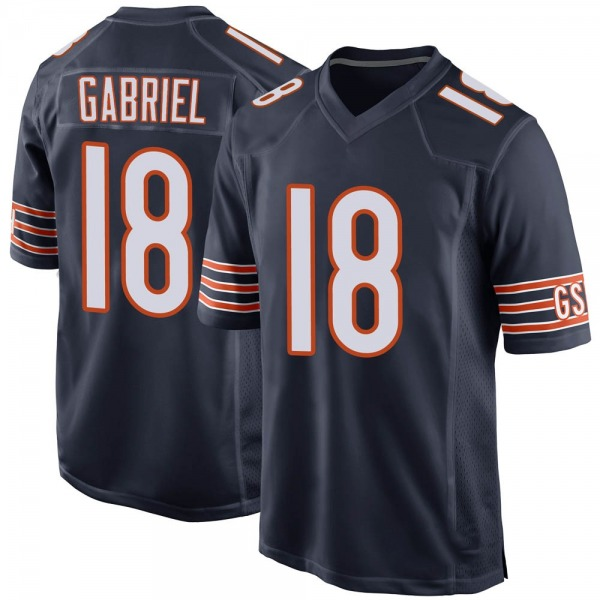 Men's Taylor Gabriel Chicago Bears Game Navy Team Color Jersey