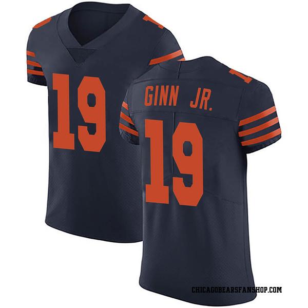 Men's Ted Ginn Jr. Chicago Bears Elite Navy Blue Alternate Vapor Untouchable Jersey