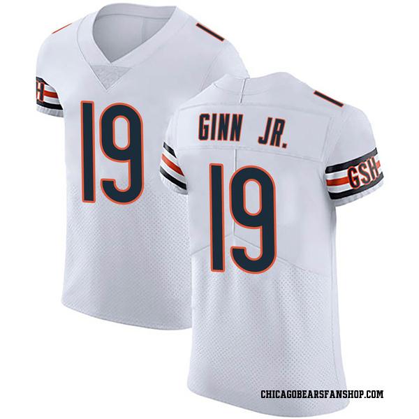 Men's Ted Ginn Jr. Chicago Bears Elite White Vapor Untouchable Jersey
